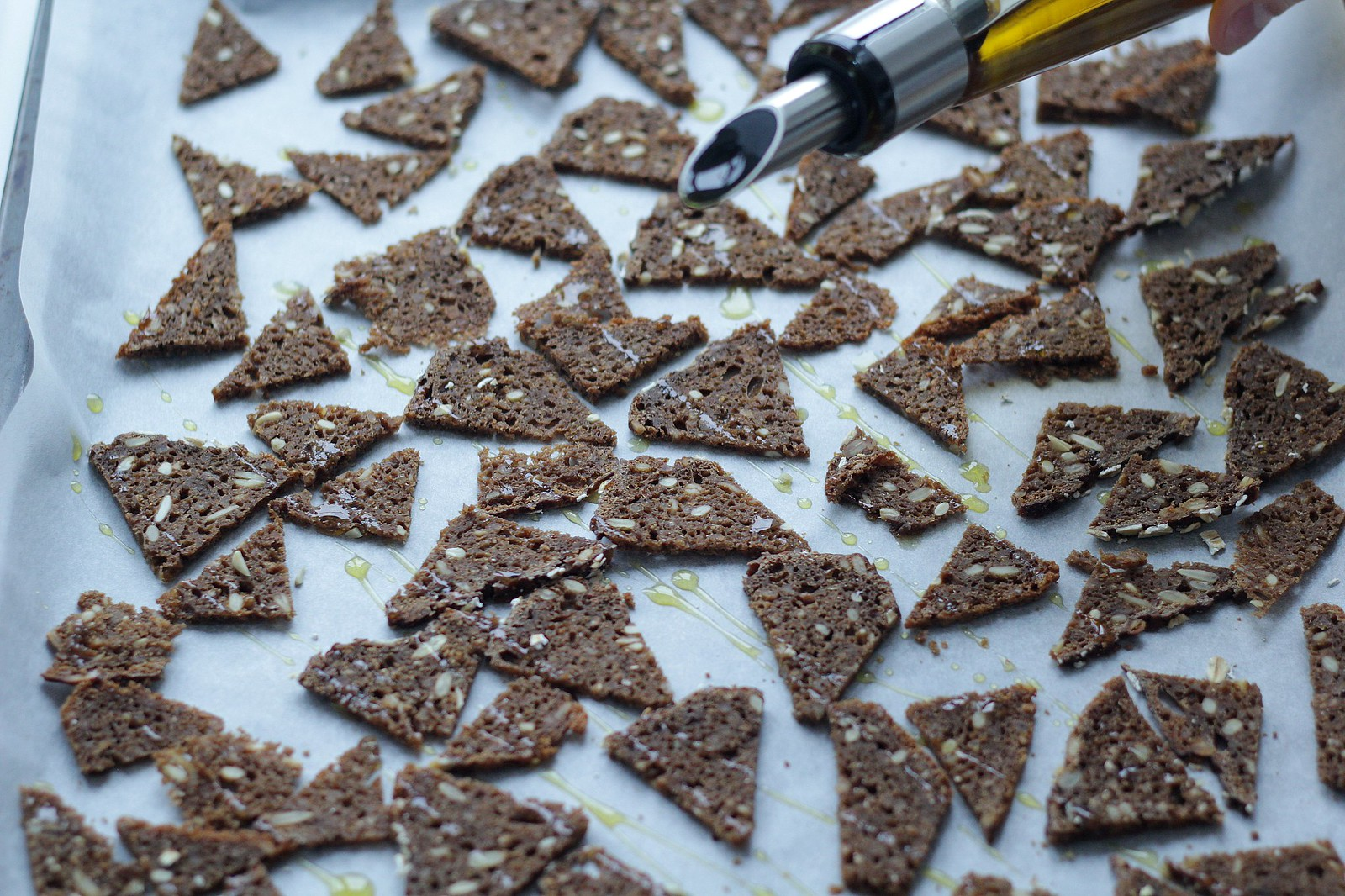 Recipe for Homemade Danish Rye Bread Chips