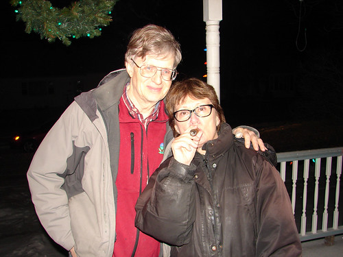 Russ and Laura enjoying a Cuban cigar to ring in the New Year.