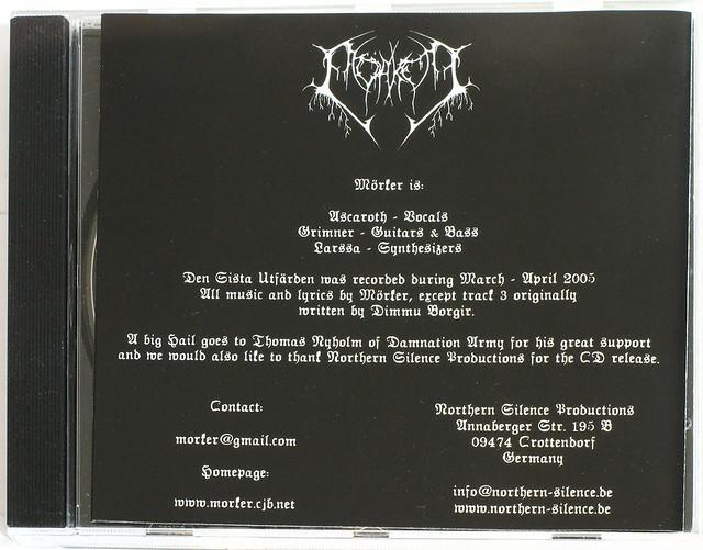MORKER DEN SISTA UTFARDEN (CD)