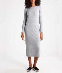 Grey midi sweater dress