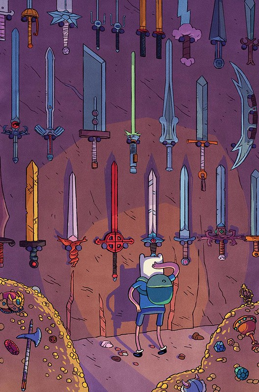 Finn S Wall Of Swords From Adventure Time