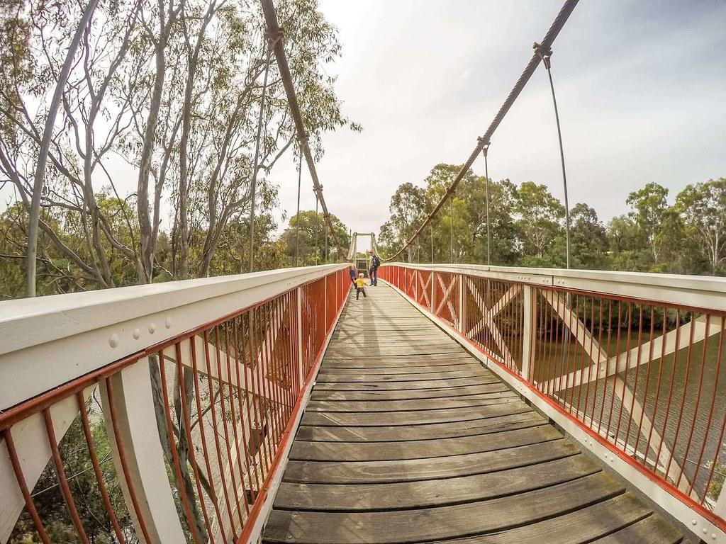 Footbridge at Yarra Bend Park, near Melbourne