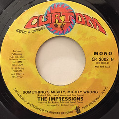 THE IMPRESSIONS:SOMETHING'S MIGHTY,MIGHTY WRONG(LABEL SIDE-A)