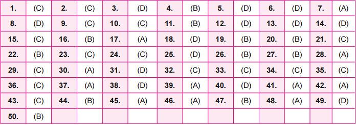 NSO Answer Key 2016 for Set B - Class 10