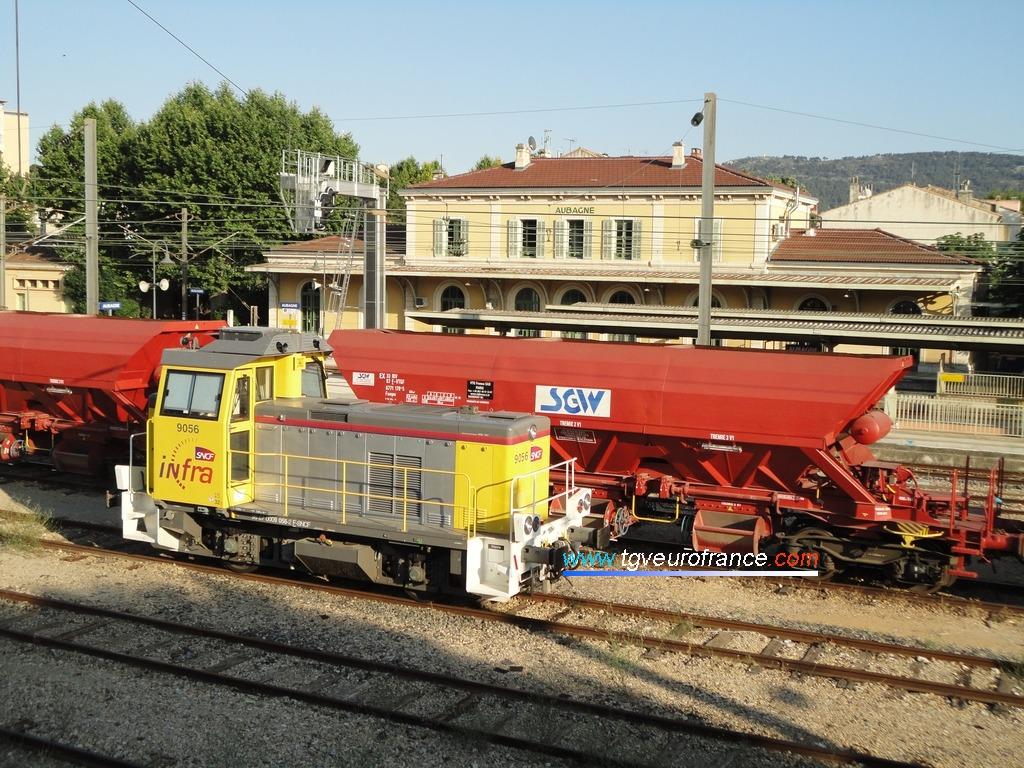 Un locotracteur thermique de la série Y 9000 modernisé et remotorisé