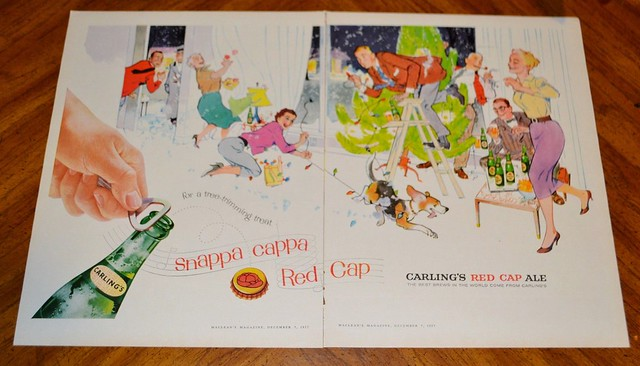 Carling-red-cap-xmas-tree-english-1957