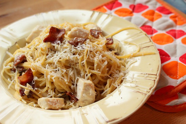 Chicken Spaghettini Carbonara