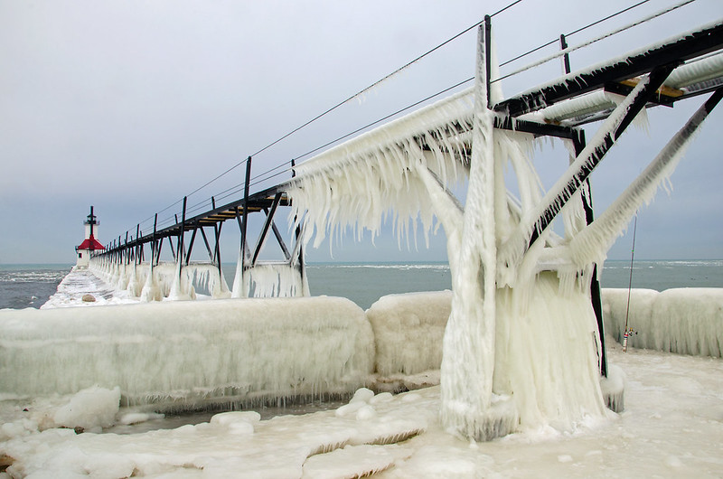 Iced Pier and Catwalk
