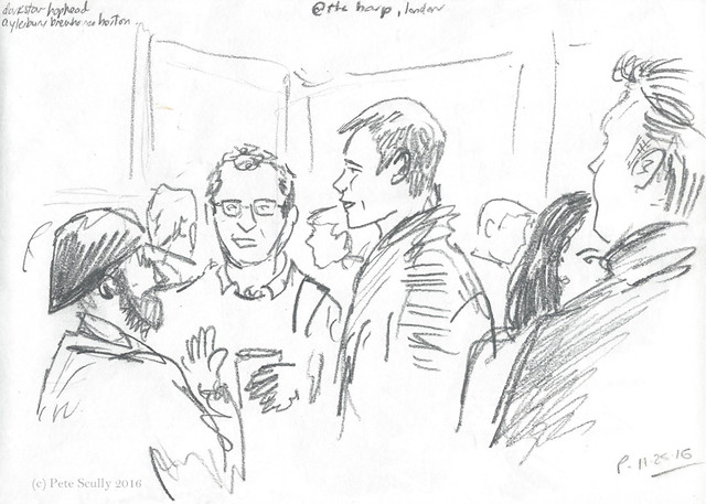 People at Harp pub, London