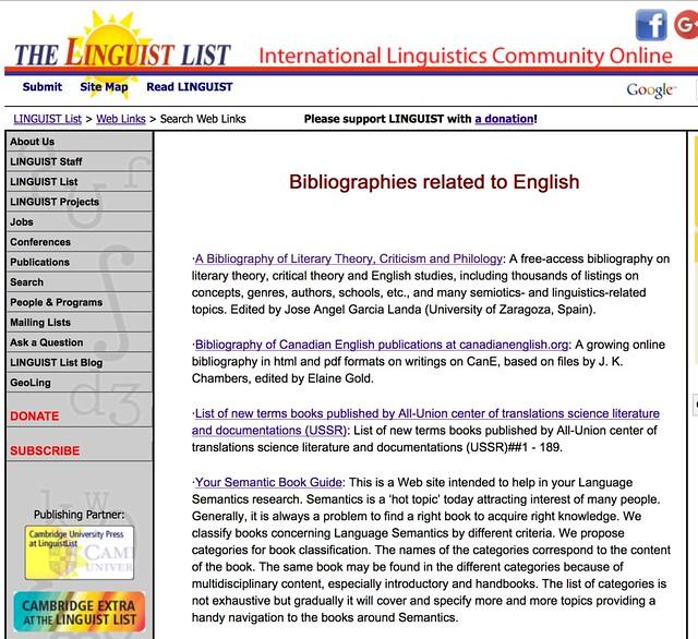Listado en la Linguist List