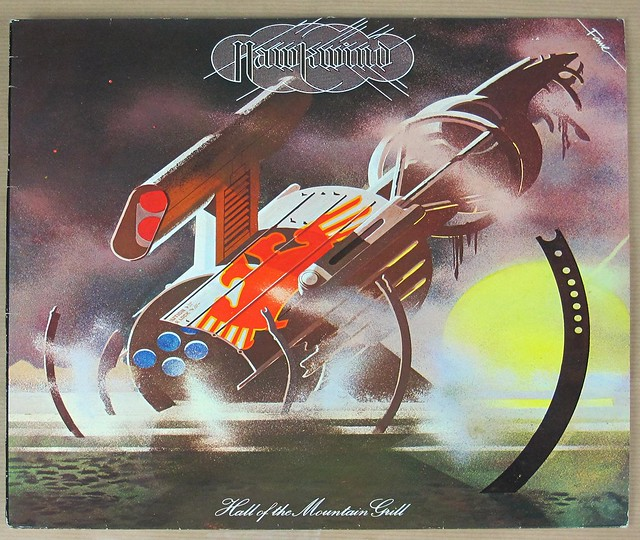 "HAWKWIND HALL OF THE MOUNTAIN GRILL ORIG UK 12"" LP VINYL"