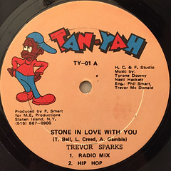 TREVOR SPARKS:STONE IN LOVE WITH YOU(LABEL SIDE-A)