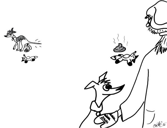 Comic-Whippet-Gacki