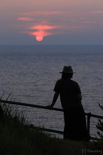 Sunset at Ikitsukishima Island Sunsetway