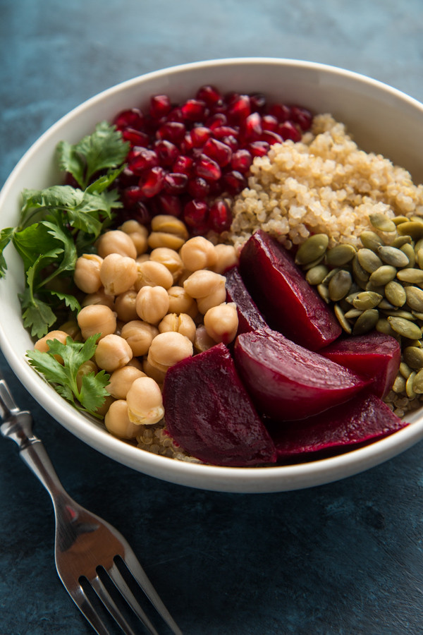 Beet, Quinoa, and Pomegranate Power Bowl | Will Cook For Friends