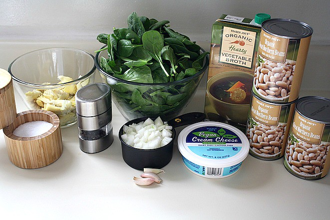 Spinach Artichoke Dairy Free Soup