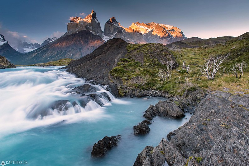 Sunset at the Los Cuernos - Torres del Paine