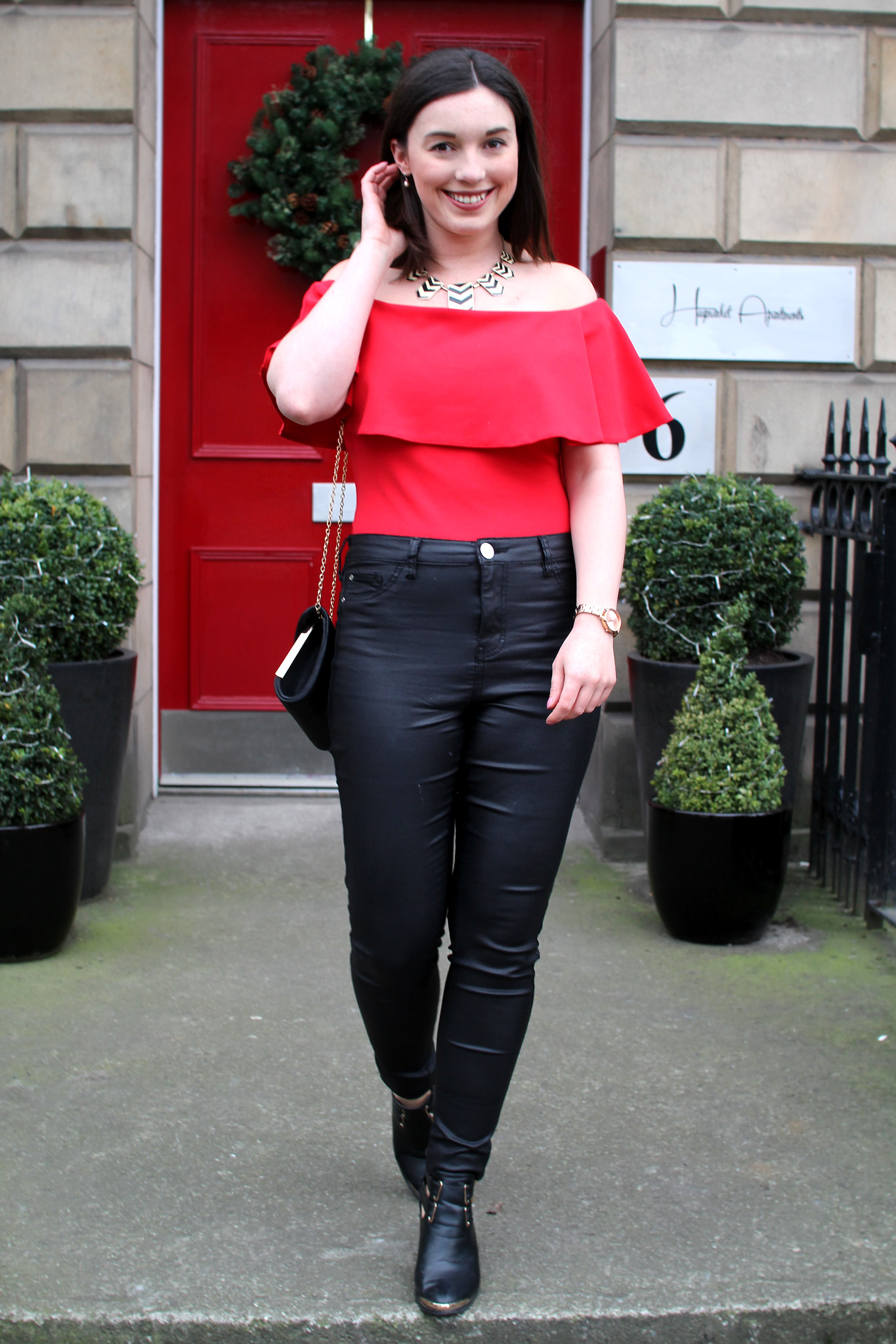 UK fashion blogger lifestyle Edinburgh Scotland Christmas festive outfit