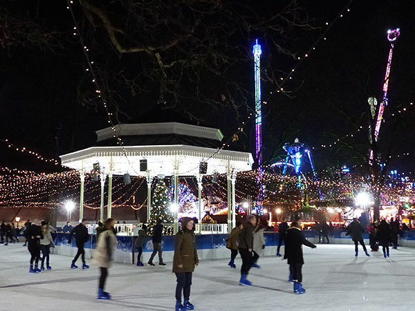 ice rink winter wonderland