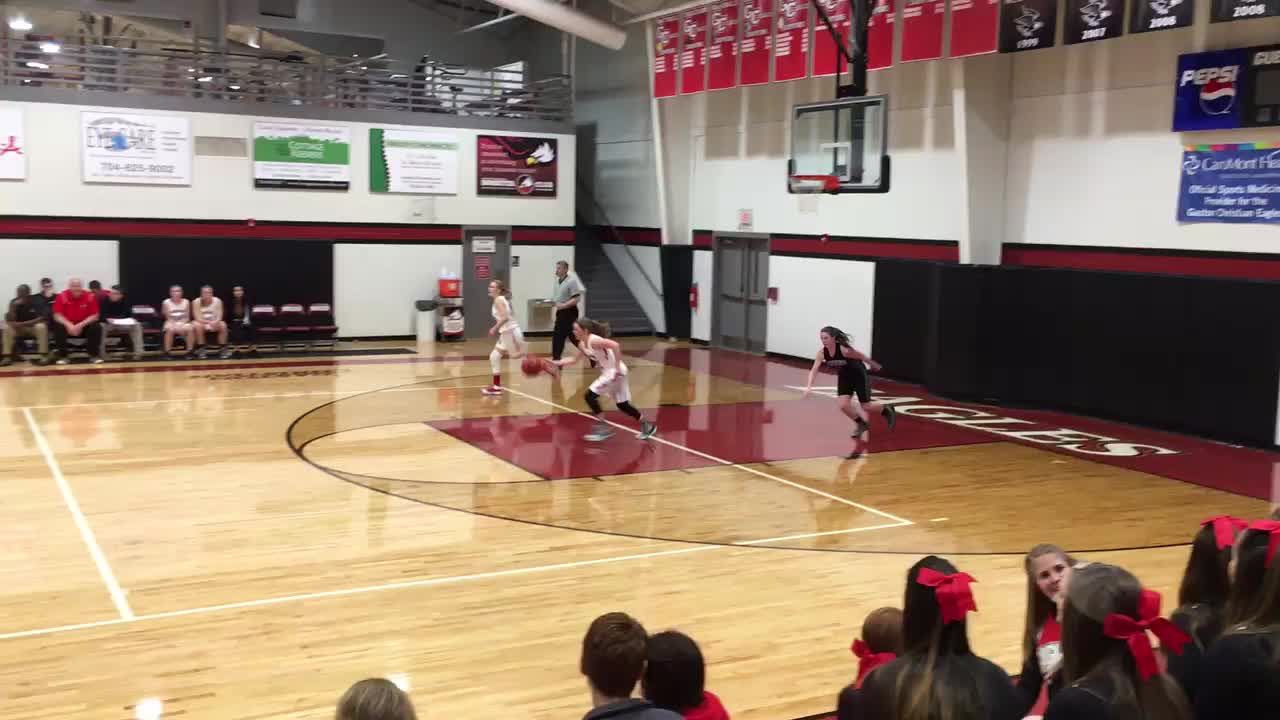 Hannah Bonisa 3 pointer at buzzer