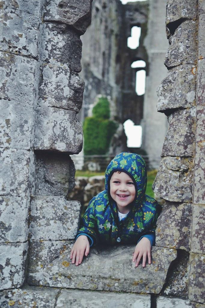 Castle window Corfe Castle