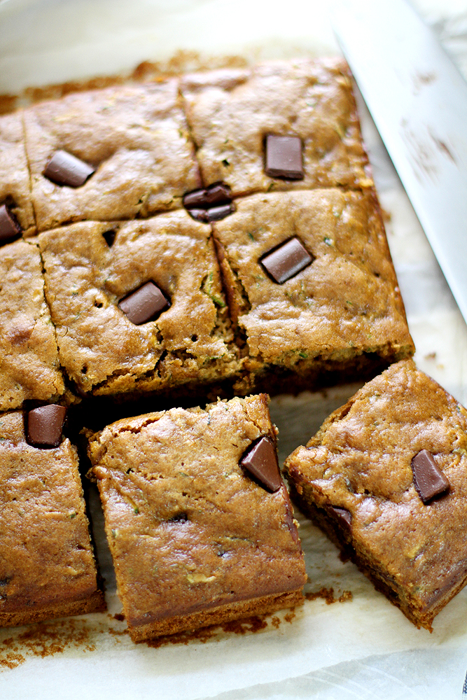 Whole Wheat Chocolate Chip Zucchini Bread | girlversusdough.com @girlversusdough