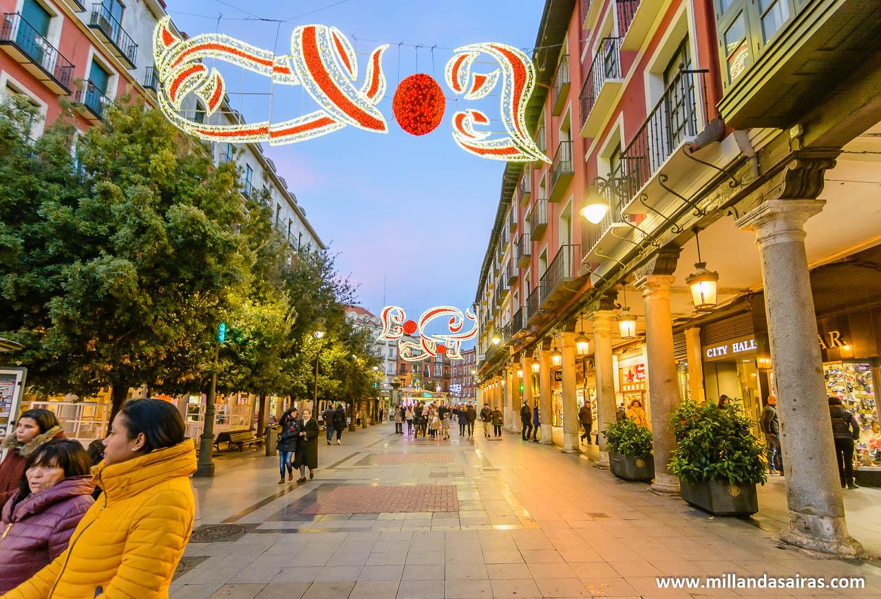 Calle Ferrari, en el centro de Valladolid