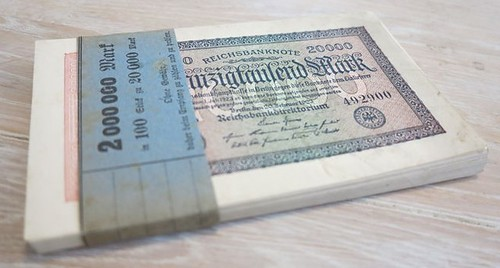 bundle 20,000 mark 1923 - Weimar Republic notes