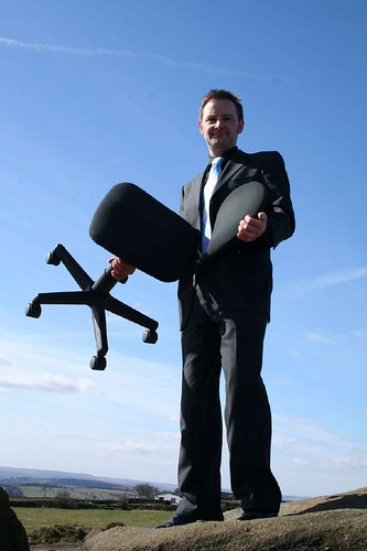 We also took an office chair to the top of the Chevin | by urbanwide
