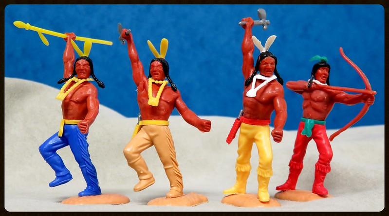 Toy soldiers, cowboys, indians, space men etc 31132630773_a7177d224d_c