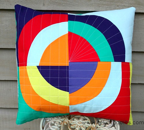 Improv Bull's Eye pillow front