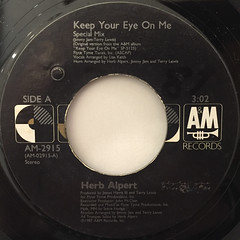 HERB ALPERT:KEEP YOUR EYE ON ME(LABEL SIDE-A)