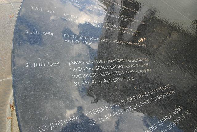 Civil Rights Memorial, Montgomery AL