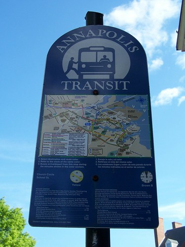 Annapolis transit sign