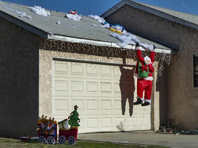 Santa falling