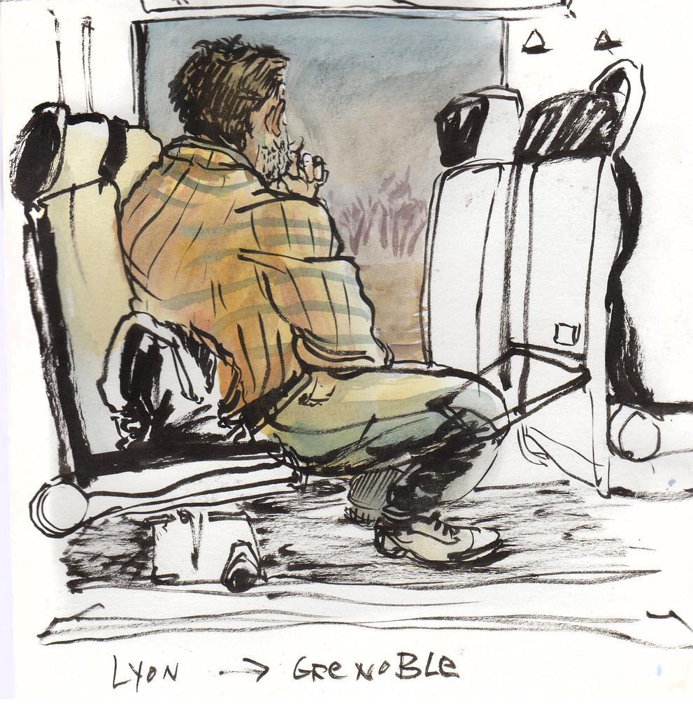Arrivée sur Grenoble (dans le train)