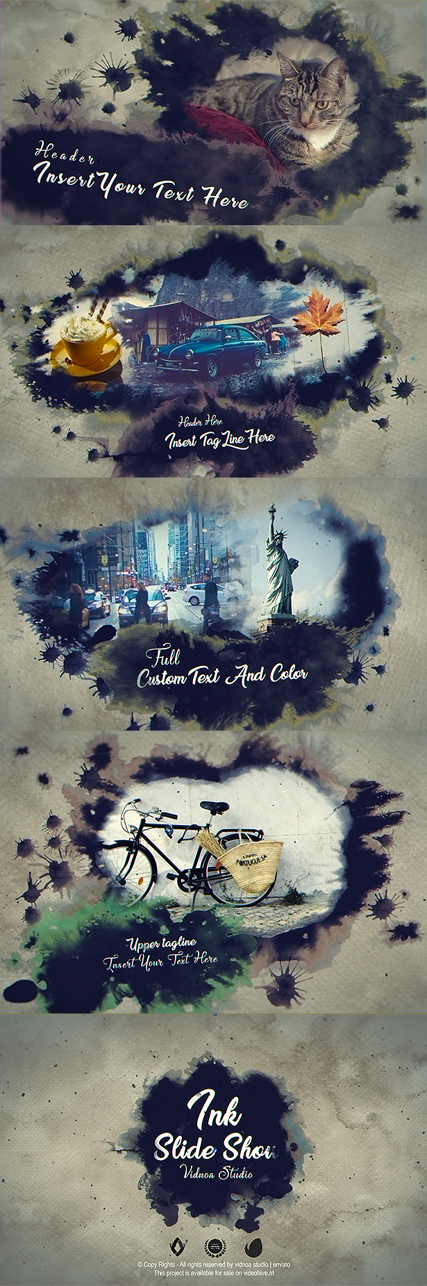 Ink Bleed (Abstract) After Effects Templates | F5-Design com