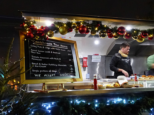 menu foire de Noël de la Tate Modern