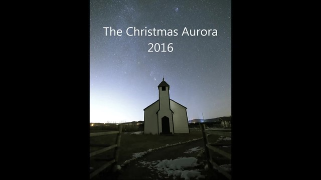 Christmas Church night Aurora