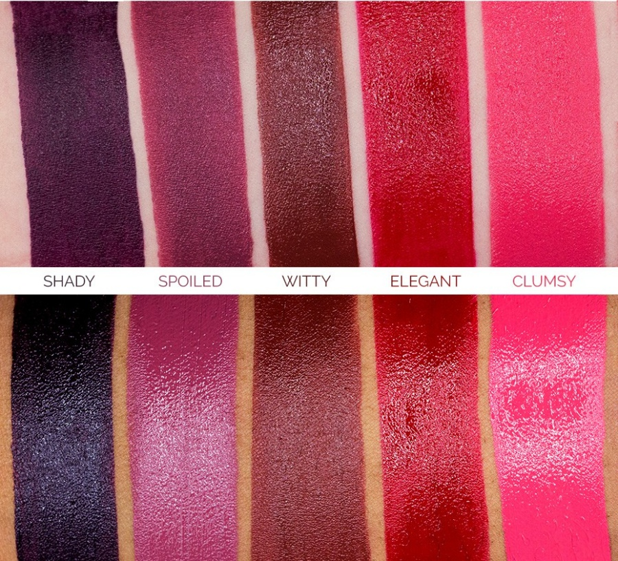Makeup Geek Iconic Lipstick Swatches