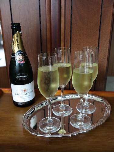 Champagner zur Begrüßung