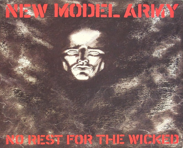 "NEW MODEL ARMY NO REST FOR THE WICKED INCL LYRICS 12"" LP VINYL"