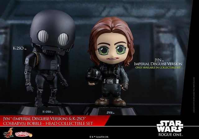 Jyn (Imperial Disguise Version) & K-2SO Cosbaby by Hot Toys