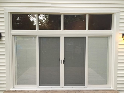Custom Four Panel Sliding Glass Door With Transoms Flickr