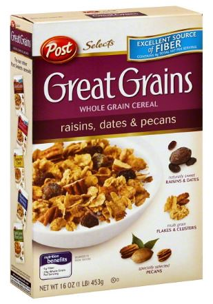 Post Great Grains Cereal as low as $1 78 at Walmart with Double