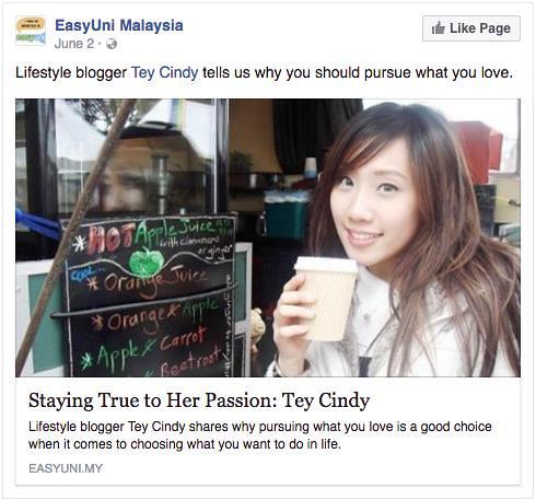 EasyUni Malaysia feature