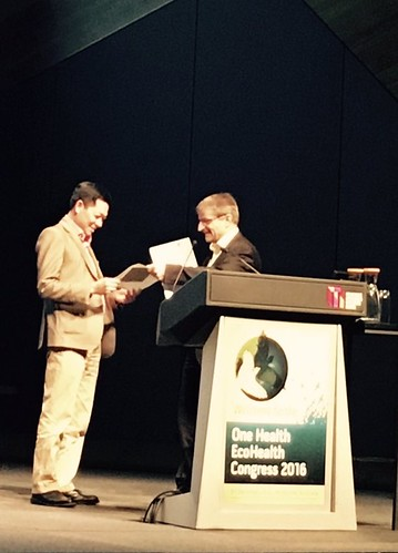 Hung Nguyen-Viet receives the 2016 International Association for Ecology and Health 'Exceptional Early Career Contribution to the Field of EcoHealth' award