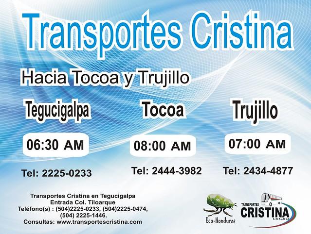 Horario Tocoa y Trujillo