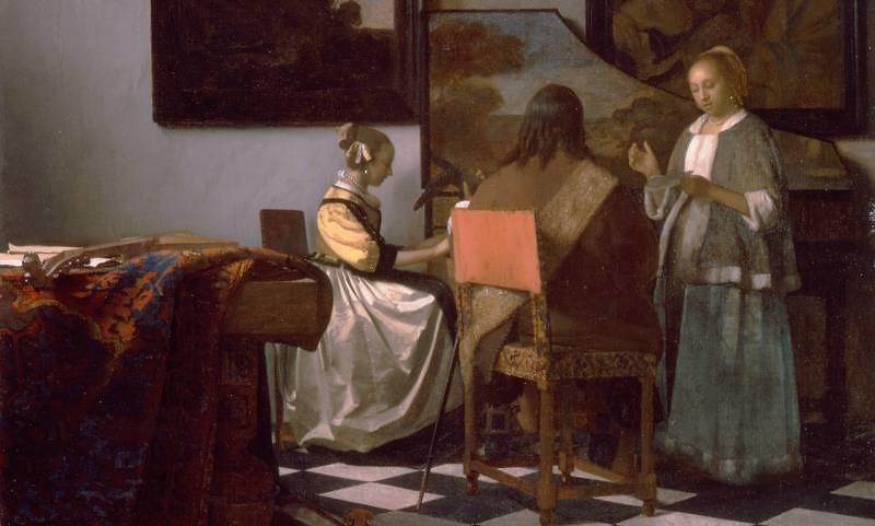 The concert, by Johannes Vermeer