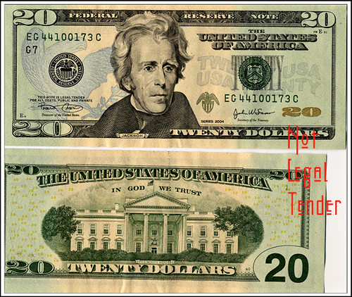 20 dollar bill | Not legal tender, please don't arrest me ...
